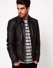 Nudie Leather Jacket Jonny Biker