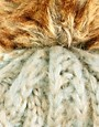 Image 3 ofWarehouse Knitted Hat with Fur Bobble