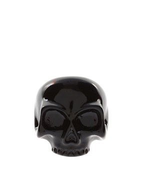 Image 2 ofASOS Black Skull Ring