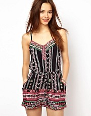 River Island Playsuit In Tribal Print