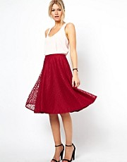 ASOS Midi Skirt in Floral Lace