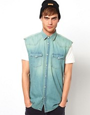 Selected Denim Sleeveless Shirt