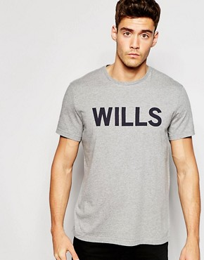 Jack Wills Graphic T-Shirt in Grey Marl