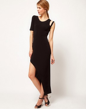 Image 1 ofFactory By Erik Hart Maxi Dress Asymetric