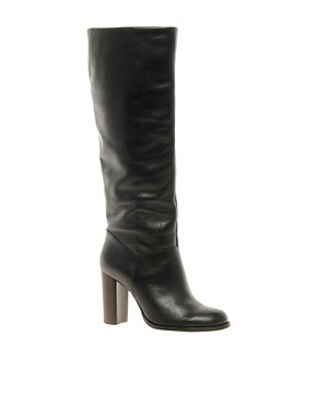 Image 1 ofDune Seven Black Classic Knee Boots
