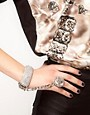 Image 1 ofASOS Crystal Cuff with Linked Ring