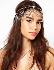ASOS Hanging Crystal and Chain Hairband