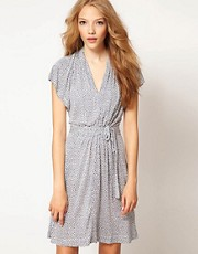 French Connection Coralie Jersey Dress With Tie Waist