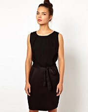 WH100 by Won Hundred Body Dress with Side Zip Detail and Belt