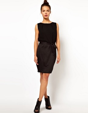 Image 4 of WH100 by Won Hundred Body Dress with Side Zip Detail and Belt