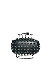 ALDO Hesser Skull Knuckle Clutch Bag