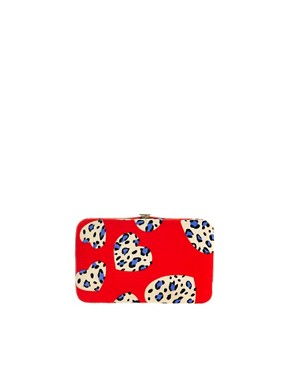 Image 1 ofASOS Heart Print iPhone And Purse Case