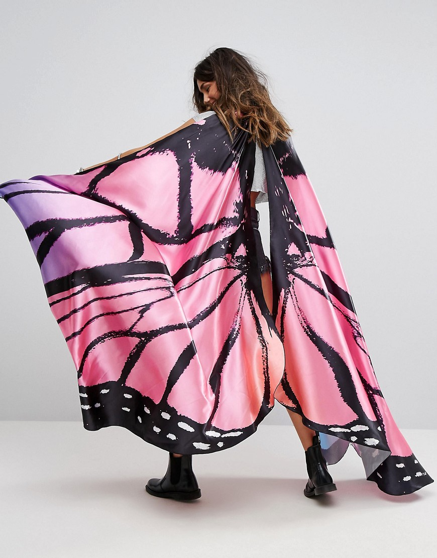 Club L Festival Dress Up Pink Butterfly Wings Festival Cape - Multi