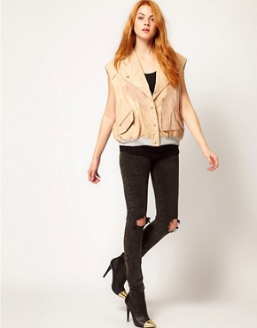 Image 4 ofUrban Code Loose Rib Gilet