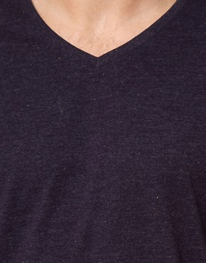 Image 3 ofSolid V-Neck T-Shirt with Fleck