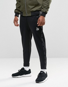 Puma Urban Cropped Joggers In Black