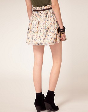 Image 2 ofLottie and Holly Spray Floral Full Mini Skirt