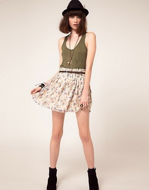Image 1 ofLottie and Holly Spray Floral Full Mini Skirt