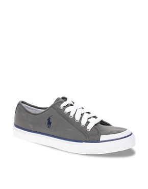 Image 1 ofPolo Ralph Lauren Chancery Canvas Plimsolls