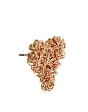 Image 3 ofASOS Squiggle Heart Stud Earrings