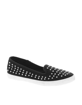Image 1 ofNew Look Million Studded Slip On Plimsolls