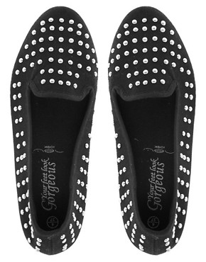 Image 2 ofNew Look Million Studded Slip On Plimsolls