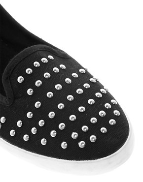 Image 4 ofNew Look Million Studded Slip On Plimsolls
