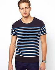 Selected T-Shirt With Button Shoulder
