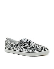 ASOS Plimsolls With Zebra Print