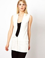 Factory by Erik Hart Waistcoat With Sheer Back Panel