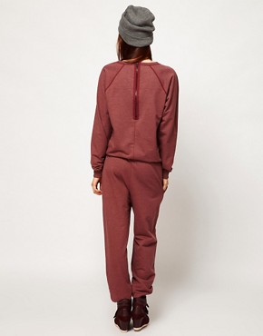 Image 2 ofASOS Onesie with Zip Back in Sweat