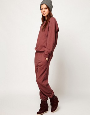 Image 4 ofASOS Onesie with Zip Back in Sweat