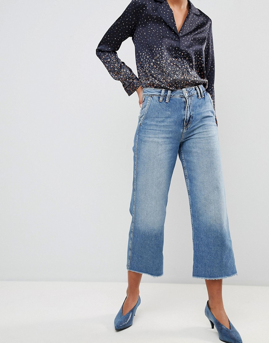 Pepe Jeans Patsy Cropped Flared Jeans Light blue