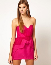 Alice McCall Organza Sweetheart Bustier Dress with Asymetric Peplum