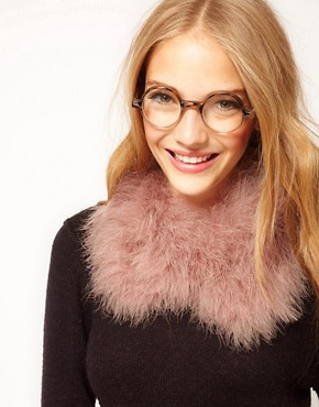 Image 1 ofASOS  Marabou Collar