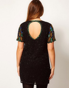 Image 2 ofASOS CURVE Dress With All Over Embellishment