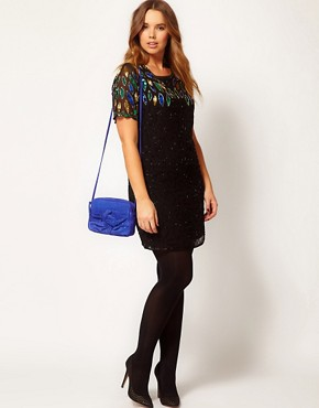 Image 4 ofASOS CURVE Dress With All Over Embellishment