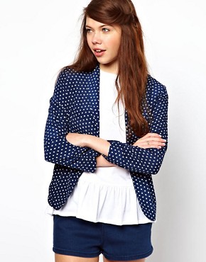 Image 1 ofA Wear Dot Print Blazer