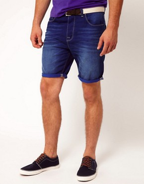Image 1 ofASOS Denim Short With Contrast Turn Up