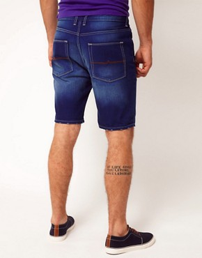 Image 2 ofASOS Denim Short With Contrast Turn Up