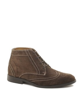 Image 1 ofASOS Brogue Chukka Boots in Suede