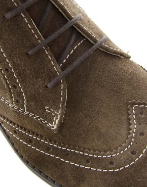 Image 2 ofASOS Brogue Chukka Boots in Suede