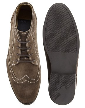 Image 3 ofASOS Brogue Chukka Boots in Suede