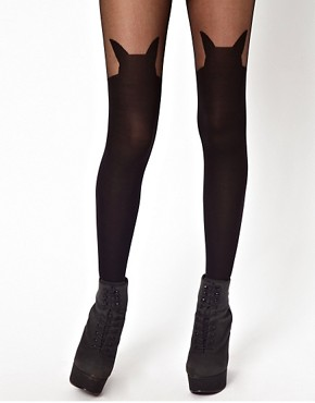 Image 1 ofASOS Cat Suspender Tights