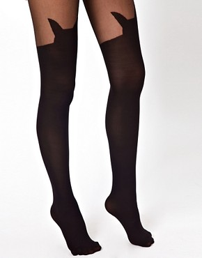 Image 2 ofASOS Cat Suspender Tights