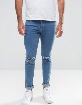 Ripped Jeans For Men | Destroyed &amp Distressed Jeans | ASOS