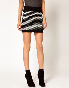 Image 4 ofEdun Zebra Stripe Crochet Sweater Skirt