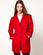 Ganni Long Line Wool Coat