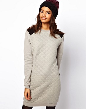 Image 1 ofASOS Sweat Dress In Quilted Jersey
