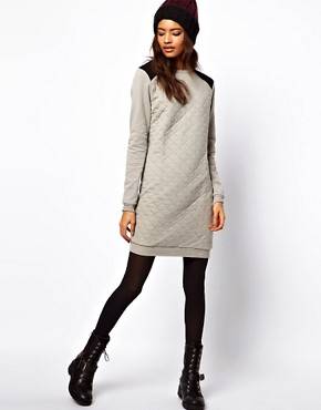 Image 4 ofASOS Sweat Dress In Quilted Jersey